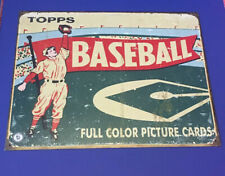 Replica Vintage Topps Baseball Picture Cards Tin Metal Classic Sign Garage Bar