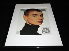 Sinead O'Connor 1990 Rolling Stone Framed Cover Display 11x14 Official RP
