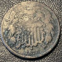 1870 Two Cent Piece 2c High Grade 2 Cents - XF Details #17185