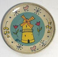 Vintage Miniature Ohio Arts Tin Litho Toy Plate Windmill Design - Uncommon
