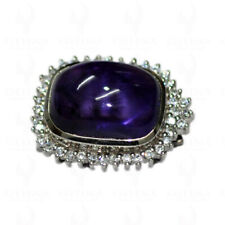 AMETHYST GEMSTONE STUDDED LOCKET IN 925 STERLING SILVER SP011005