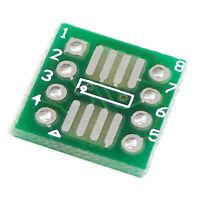 20 PCS SOP8 SSOP8 TSSOP8  to DIP8 Adapter PCB Board Convertor Double Sides