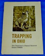 Trapping in Ohio Division of Wildlife Department Natural Resources Booklet Rare