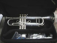 New CarolBrass CTR-5060H-GSS-S Silver Bb Trumpet, Solid Silver Leadpipe!