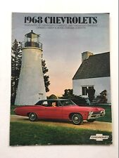 1968 Chevrolet 12-page Sales Brochure Catalog - Camaro Impala Caprice Chevelle