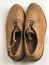 GBX Balance Mens Sz 8 Tan Suede Low Top Lace Up Plain Toe Oxfords Shoes