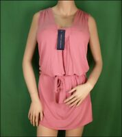 Bnwt Womens French Connection Stretch Tunic Dress Top + Belt RP£45 Pink New Fcuk