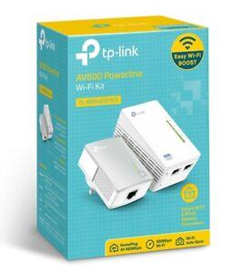 TP-Link TL-WPA4220 KIT 300Mbps AV600 WiFi Powerline Extender Starter Kit Adapter