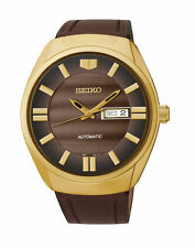 Seiko SNKN08 Men's Recraft Automatic Watch Day-Date Gold Tone