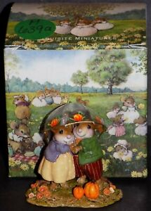 WEE FOREST FOLK HAPPINESS WITH SPRINKLES IN FALL MICE M-639a