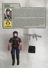 Vintage Hasbro G.I. Joe Cobra Vipers v1  Figure 1986 Complete