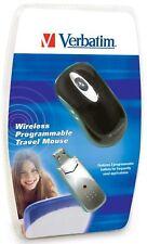 Verbatim Wireless USB Programmable Travel Optical Mouse