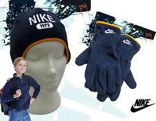 Nike 1972 Bonnet polaire et gant Ensemble bleu marine enfant AUTHENTIQUE PETIT