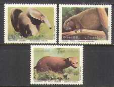 Brazil 1988 Animals/Wildlife/Porcupin e/Bush Dog/Anteater/Nature 3v set (n22513)