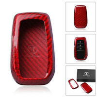 Real Remote Smart Key Cover Fob Case Carbon Fiber For Toyota Corolla Camry Crown