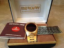 Vintage Retro MWC Mercury LED Solid State Stainless Gold Watch Red 60s 70s Bond