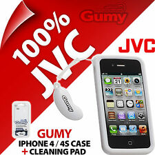 JVC gomoso nuevo caso para iPhone 4 4S Cubierta Auriculares Audífonos/Partidos de color de la piel