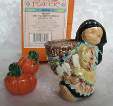 Friends Of The Feather Salt & Pepper Shakers Harvest 285765 New!
