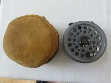 "V good vintage daiwa osprey youngs 809 trout 1500 fly fishing reel 3.5"" + case"