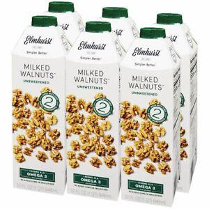 Elmhurst Milked Walnuts Unsweetened Dairy Free 9.46 ML ( Pack of 6 )