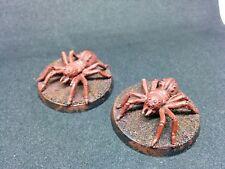 2 große Spinnen - Mordor - GW - Herr der Ringe - Zinn