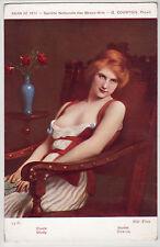 CPA - Charme, beauté, femme, Beaux-Arts - Salon de 1912 - G.COURTOIS - Etude.
