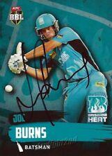✺Signed✺ 2015 2016 BRISBANE HEAT Cricket Card JOE BURNS Big Bash League