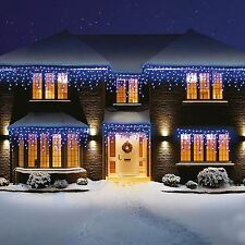 720 Bright LED Icicle Christmas Light Static Xmas Tree Window Decoration Festive