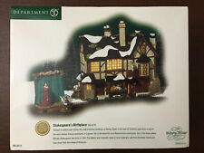 Dept 56 Dickens Village Shakespeare's Birthplace Set (Retired 2003)