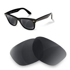 Polarized Replacement Lenses for Rayban 2140 wayfarer 50 size black iridium