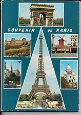 PARIS, France, 14 Color View Unused Folding Postcard Original: Notre-Dame, More