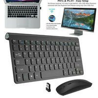 Wireless Keyboard And Mouse Combo Set USB Mini 2.4Ghz For Mac Apple PC Computer