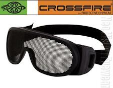 Crossfire Mesh Goggle Anti Fog Wire Steel Lens Fit Over Safety Glasses Z87.1