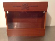 Grands Vins De Bordeaux 4 Bottle Wooden Plexiglass Wine Display Box