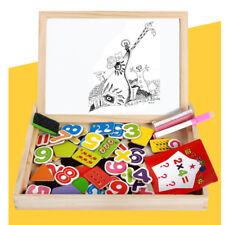 Wooden Magnetic Blackboard White Board Math Learning Box Kids Toy Education