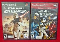 Star Wars Battlefront I + II 1 2 -  PS2 Playstation 2 Tested Game Lot Working