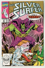 1990 SILVER SURFER #37 Marvel Comics COMIC Where Is Thanos STAN LEE Superhero