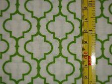 METRO LIVING, Robert Kaufman 100% Cotton Fabric, Green on White, 1 yard