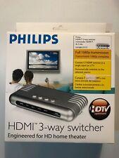 Philips SWS6813T/17 HDMI 3-Way Switcher Splitter Brand New 2007