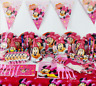 107PcsLot minnie birthday party decorations kids theme Disposable tableware