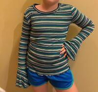 Girls' Bell Long Sleeve Striped Green Shirt - art class XS SMALL LARGE XL  #t36