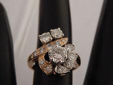 Art Deco Diamond Ring Antique 14k Yellow Gold J/VS1 1.48 tcw Cluster Spectacular