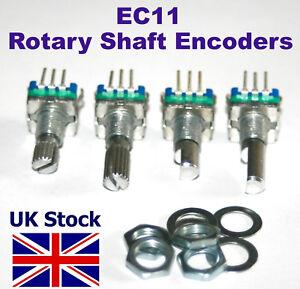 Rotary Shaft Encoder EC11 ,  with push switch, 5 pin digital potentiometer - UK