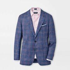 Peter Millar Collection Vibrant Blue Texture 48r Wool Silk & Linen Sport Coat