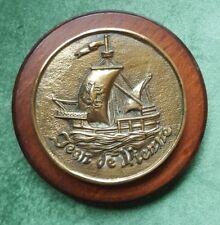 Fregate JEAN DE VIENNE ward room wall plaque frigate French Navy SOLID HEAVY