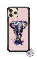 African Elephant Watercolor Art Phone Case For iPhone Samsung S20 LG Google