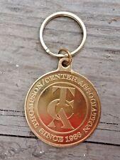 THOMPSON CENTER ARMS 25TH Anniversary Brass Keychain 1986 2011 TCA gun hunting