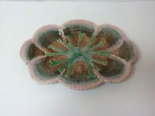 "19th C. GSH Shell & Seaweed ETRUSCAN Majolica 13.75"" Tray"