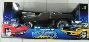 Muscle Machines 69 Camaro Black & Gold 1:18 New California Too Hot