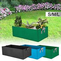 Fabric Raised Garden Bed Baskets Planting Window Plant Care Grow Box Bag